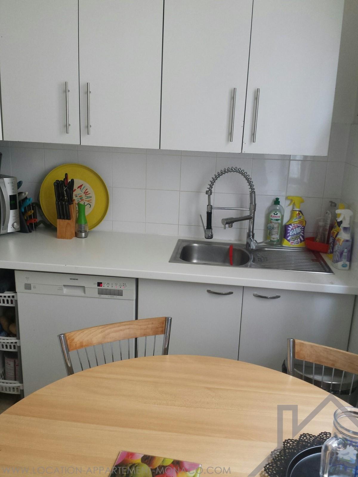 R voires 3 pi ces avec terrasse au calme location d 39 appartements monaco - Cuisine droite ...