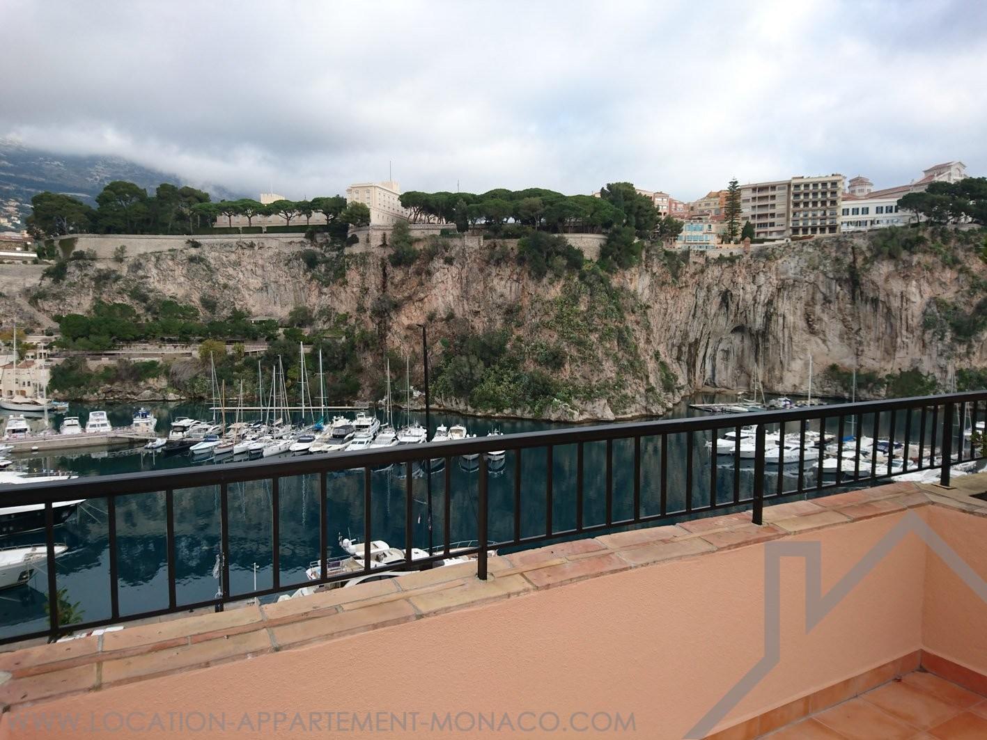 Fontvieille 2 pi ces toit terrasse location d for Appartement toit terrasse 92
